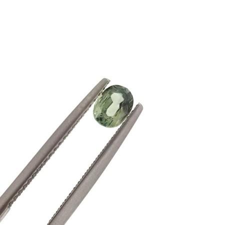 Green sapphire oval cut 1.26 carats 6 x 8 mm