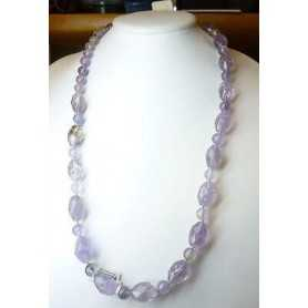 NECKLACE of AMETHYST 700 CARATS - 70cm
