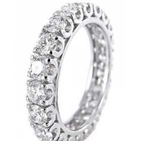 RING in WHITE GOLD 18 KT with DIAMONDS - From 1.80 to 2.40 CARATS
