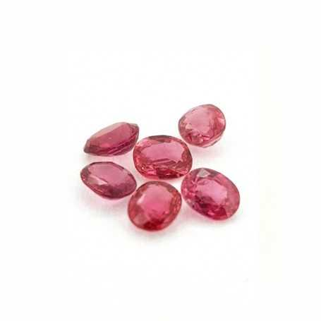 Ruby red oval cut 0.20 carats 3x4 mm