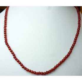 CORAL NECKLACE LENGTH 40 CLOSURE in GOLD 18 KT