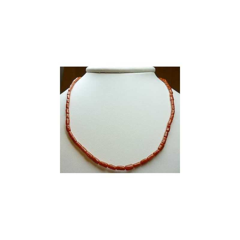 CORAL NECKLACE with GOLD CLOSURE 18 KT. WEIGHT 8.80 g