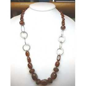 NECKLACE CARNELIAN 70 CM LONG 60% DISCOUNT 440 CARATS