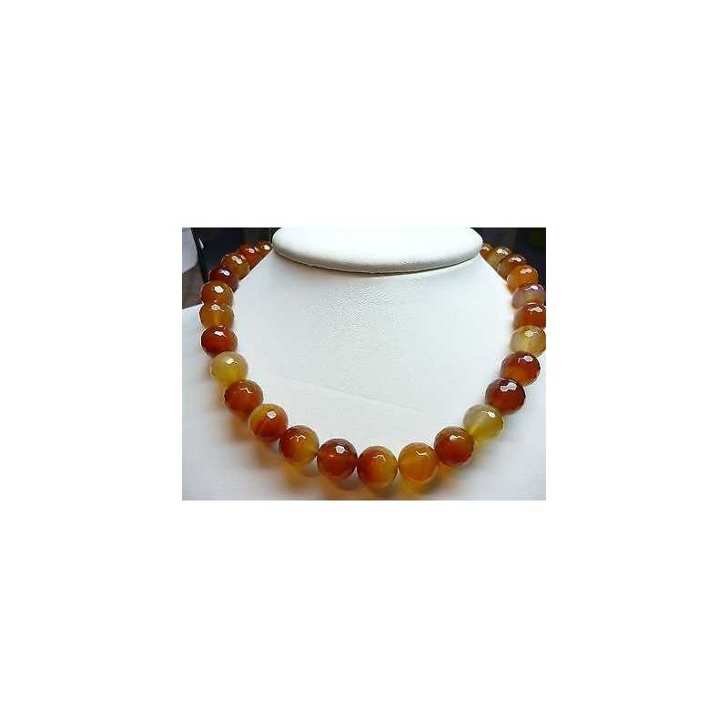 NECKLACE CARNELIAN RUSSIAN MEASURE 12 CLOSING SILVER 925 DISCOUNT 400 CARATS