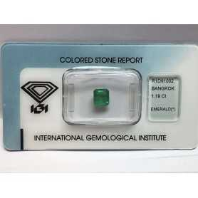 Émeraude certifié 1.19 carat blister beaucoup 1.00 1.50 2.00