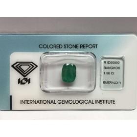 Smeraldo certificato 1.96 carati blister lotto 2.00