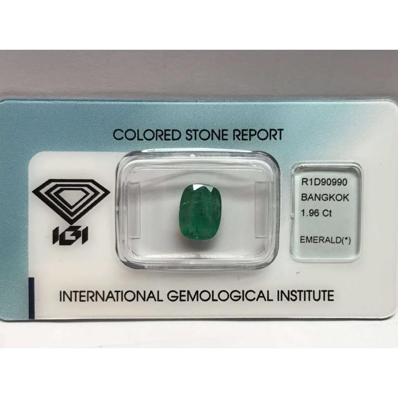 Emerald certified 1.96 carat blister batch 2.00