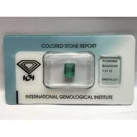 Emerald certified 1.51 carat blister batch 2.00