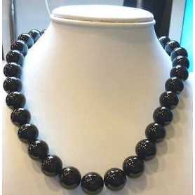 NECKLACE ONYX 40 CM CT 380 MM12