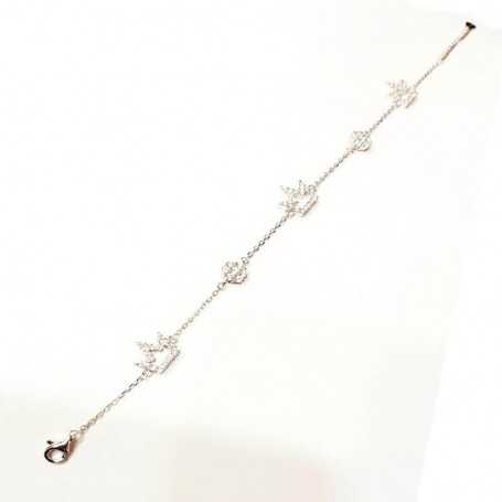 BRACELET in RHODIUM-plated SILVER with GEMSTONES - DCL-TO-BCB070