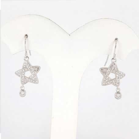 EARRINGS in RHODIUM-plated SILVER with GEMSTONES - DCL-TO-BE027