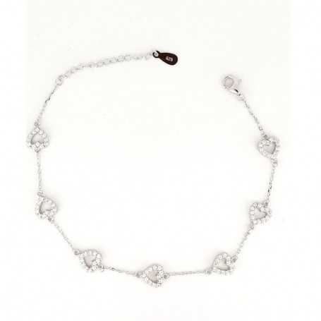 BRACELET in RHODIUM-plated SILVER with GEMSTONES - DCL-TO-BCB006