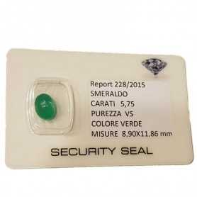 EMERALD GREEN CERTIFIED 5.75 CARAT VS clarity, in BLISTER