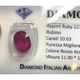 RUBY OVAL 10.63-CARAT BURMA LOTTO 10.00