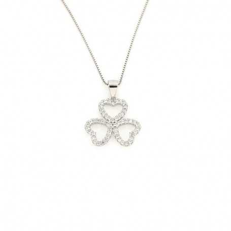 PENDANT in RHODIUM-plated SILVER with GEMSTONES - DCL-TO-BLP476