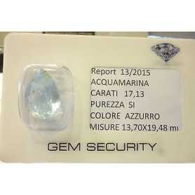 CUT AQUAMARINE DROP 17,13-CARAT - 60% DISCOUNT