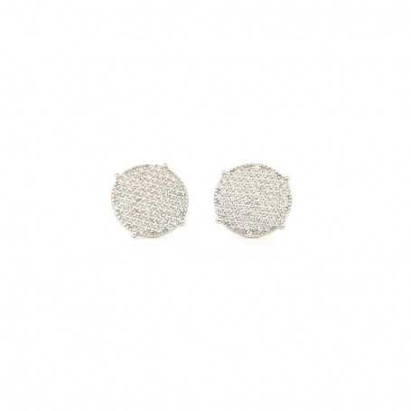 EARRINGS in RHODIUM-plated SILVER with GEMSTONES - DCL-TO-BLE155