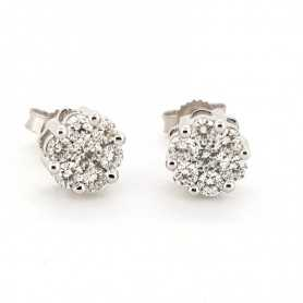 BOUCLES d'oreilles en OR 18 kt Diamants de 0.75 Ct VS la clarté de la Couleur F lot 1.00