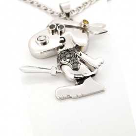 Pendentif Snoopy or GR 21.30 DIAMANTS 0.35