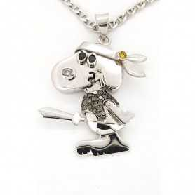 Pendant Snoopy gold GR 21.30 DIAMONDS 0.35