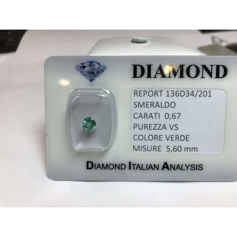 EMERALD COLOMBIA ROUND CERTIFIED 0.67 CARAT BLISTER LOT 1.00 1.50