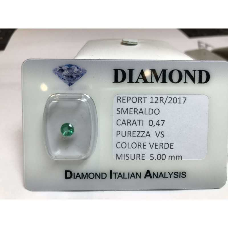 EMERALD COLOMBIA ROUND CERTIFIED 0.47 CARAT BLISTER LOT 1.00 1.50