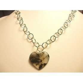 NECKLACE QUARTZ FUME' CLOSING ARGENTORODIATO GOLD 17.40 GRAMS