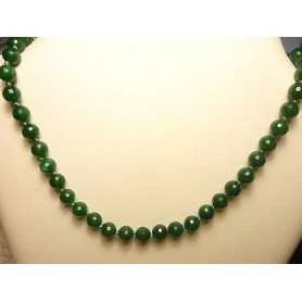 EMERALD NECKLACE CLOSURE SILVER 5.5 mm WEIGHT 130 CARATS BEAUTIFUL LAST 41 CM