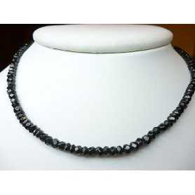 NECKLACE SPINEL BLACK DIAMOND WEIGHT 55 CAR. CLOSING IN SILVER RHODIUM-PLATED GOLD