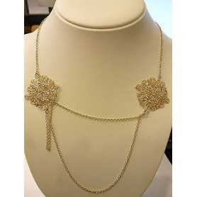 NECKLACE, STROILI SILVER 925 WITH RHINESTONES AS ZIRCONIA