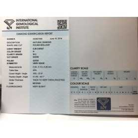 Diamante certificato igi 0.56 h si 2 blister lotto 0.75 0.401.00