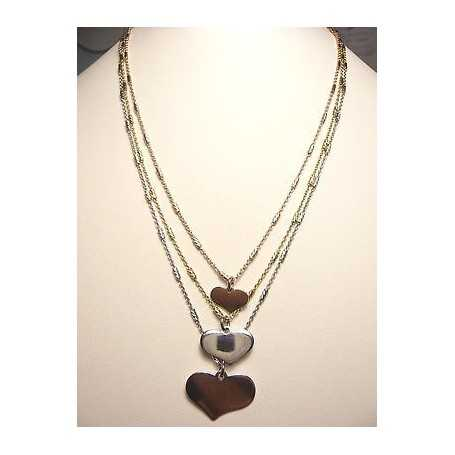 NECKLACE HEARTS SILVER GOLD PINK YELLOW WHITE valentines CHRISTMAS EASTER