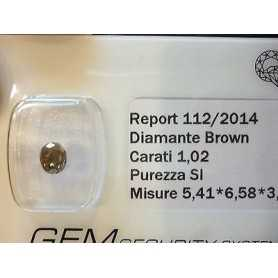 DIAMANTE FANCY BROWN 1.02 CARATI LOTTO 0.50 0.75 1.0 1.50 2.0