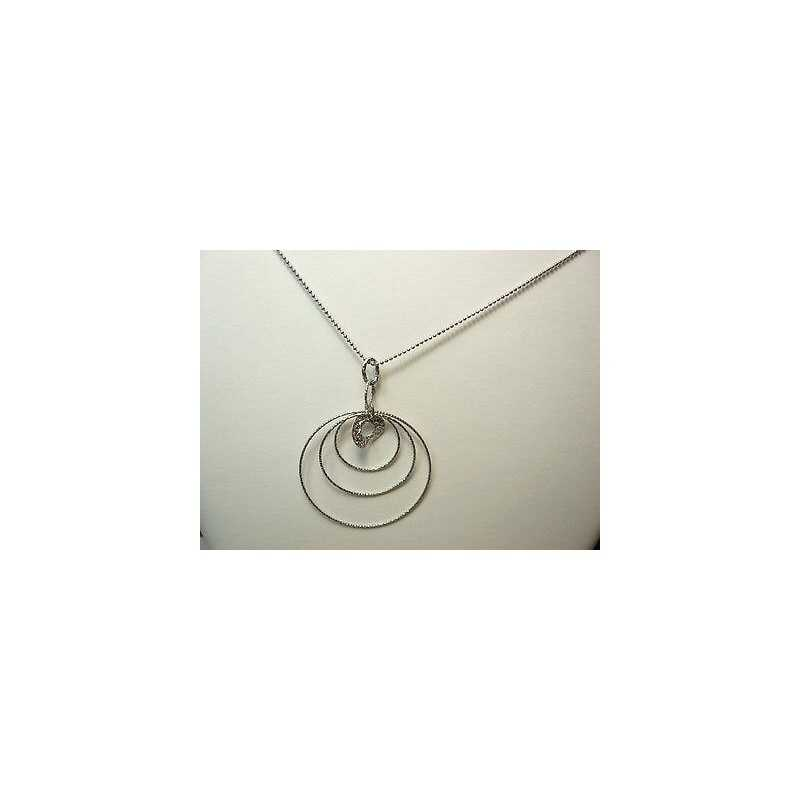 NECKLACE FILIGREE SILVER RHODIUM-PLATED GOLD 6.0 GRAMS