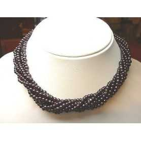 NECKLACE WITH GARNET CLASP GOLD 18 KT 104 GR. DISCOUNT 65 %