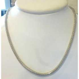 NECKLACE IN SILVER 925 RHODIUM-PLATED WHITE GOLD