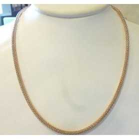 NECKLACE IN SILVER 925 RHODIUM PLATED PINK GOLD