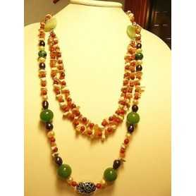 CORAL EMERALD PEARLS GREY WHITE 900 CT