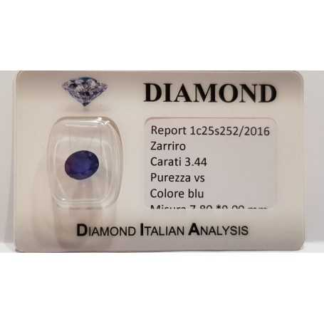 SAPPHIRE OVAL 3.44 CARAT in BLISTER CERTIFICATE