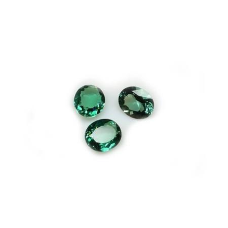 Oval green Topaz 1.85 carat 6.95 x 9.08 mm