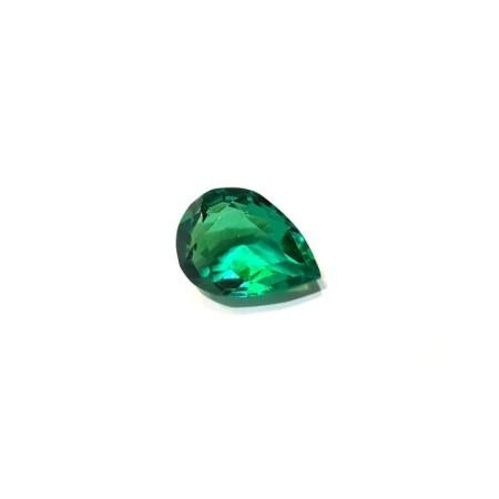 Green Topaz drop 1.36 carat 6.0 x 8.0 mm