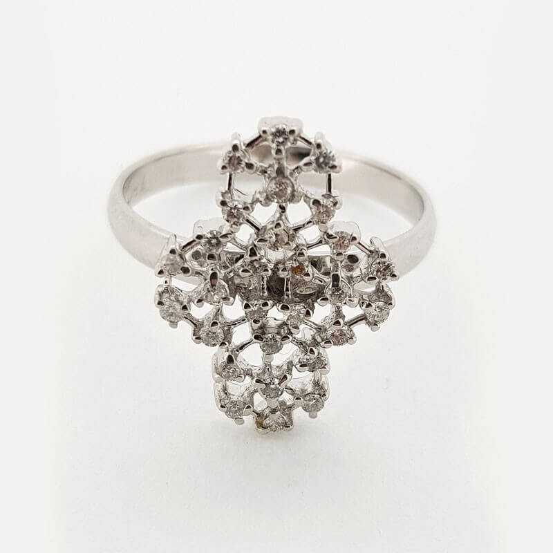 Ring 18kt White gold with DIAMONDS 0.56 ct - Model (ADA)