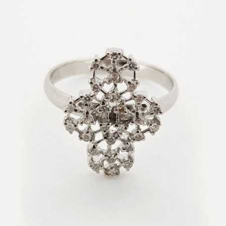 18kt white gold ring with 0.56 ct diamonds-model (ADA)