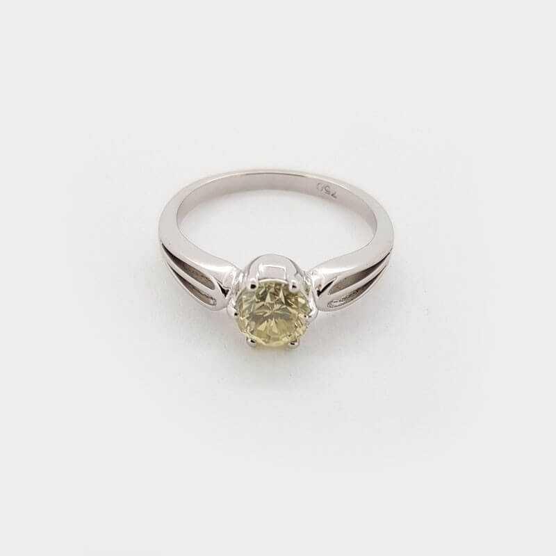 Anello oro Bianco 18kt con DIAMANTI 1.00 ct - Modello (MARTINA)