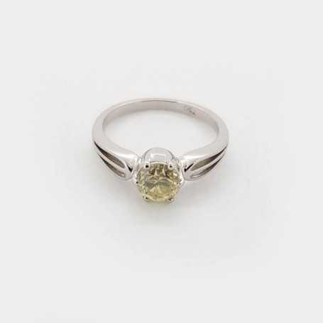18kt white gold ring with 1.00 ct diamonds-model (MARTINA)