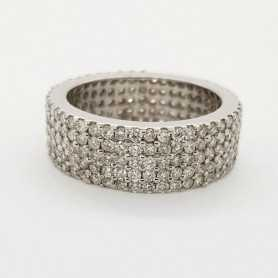 Ring 18kt White gold with DIAMONDS 2.25 ct Total - Model (TRUE)