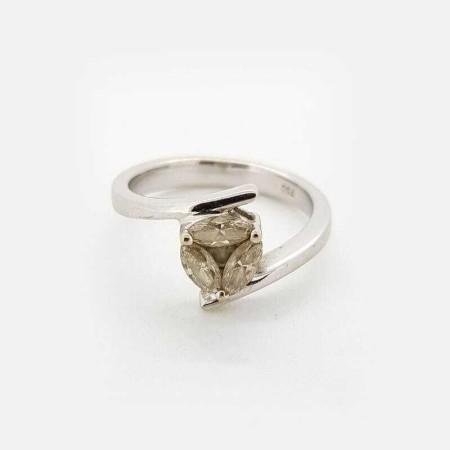 Anello oro Bianco 18kt con DIAMANTI 0.90 ct Totali - Modello (GIOVANNA)