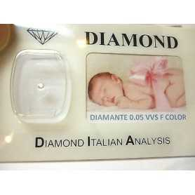 DIAMANTE 0.05 vvs f color blister personalizzabile scatola regalo