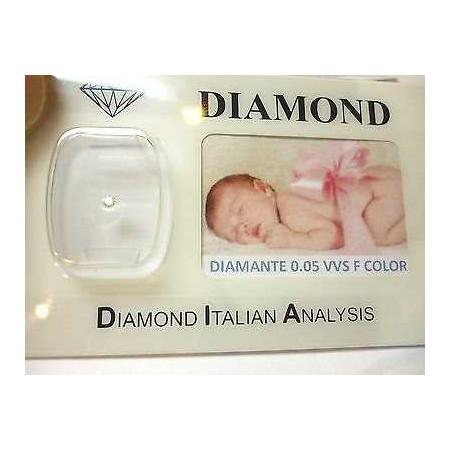 DIAMOND 0.05 vvs f color blister customizable gift box