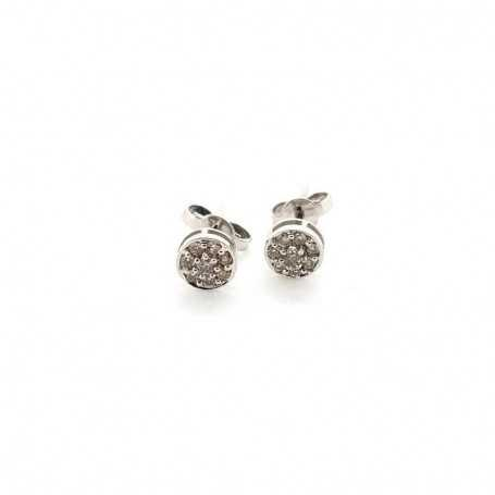 18kt white gold earrings with total 0.32 ct diamonds-model (ANITA)